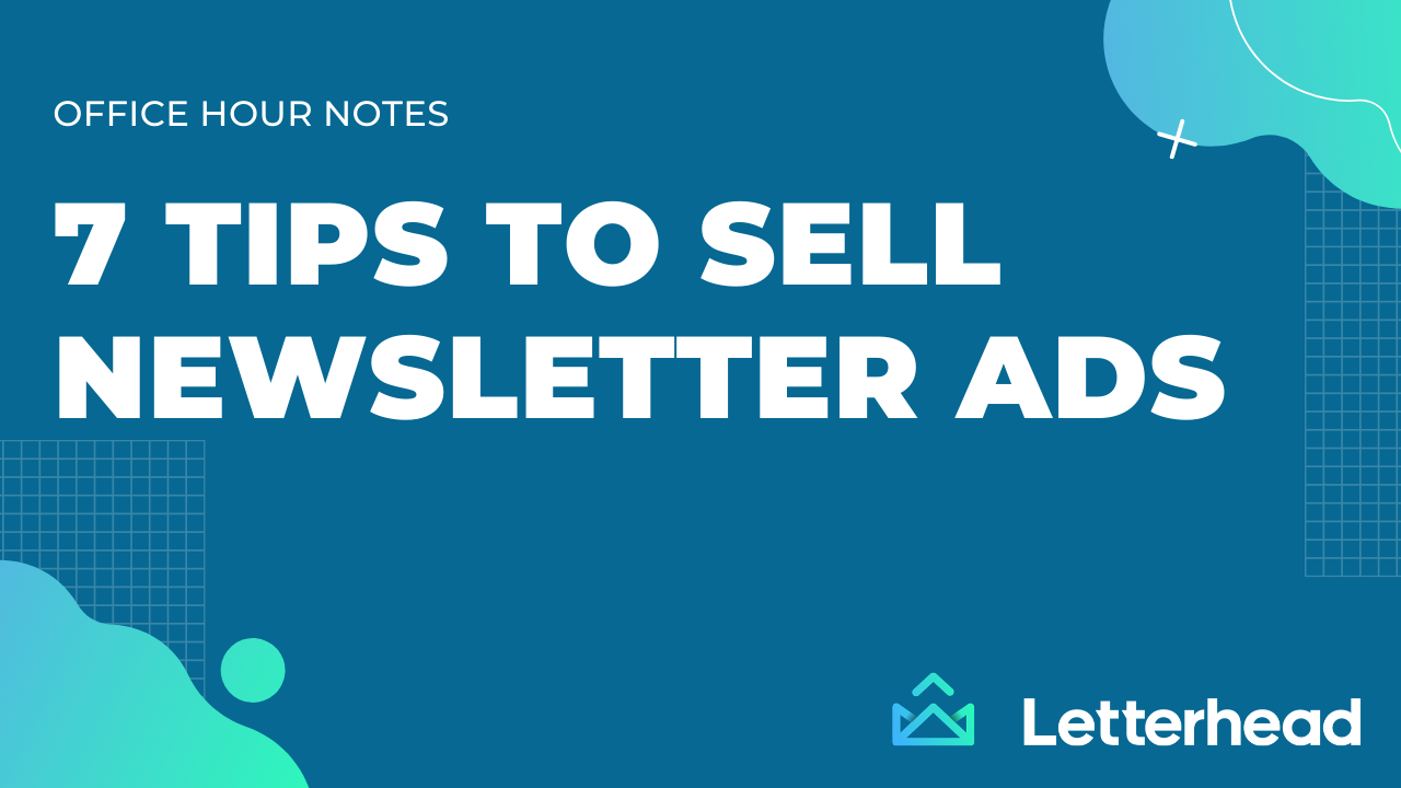 sell ads in your newsletteer banner image